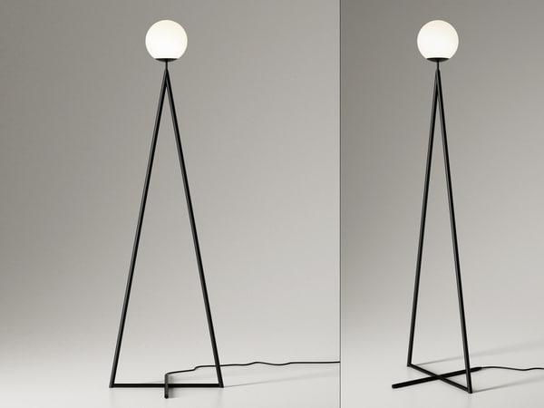 3D model globe-one cone floor lamp