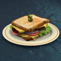 3D steak sandwich