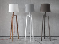 stilt floor table lamps 3D model