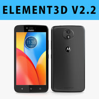 E3D - Motorola Moto C 2017 Black 3D model