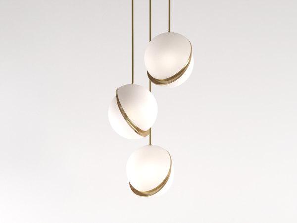 crescent pendant light 3D model