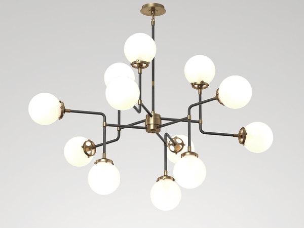 3D model bistro medium chandelier