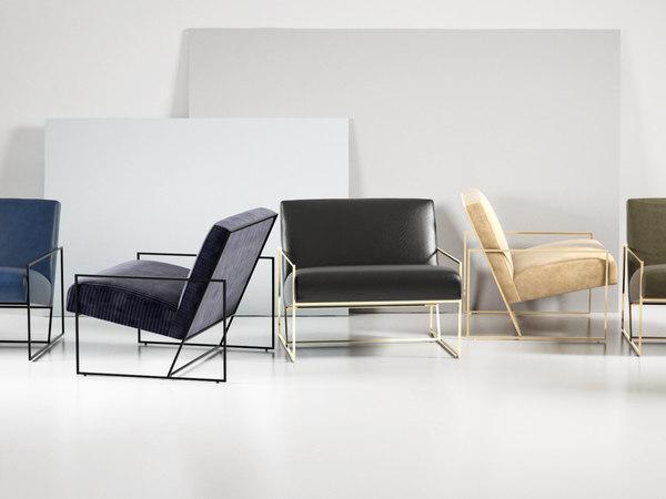 frame lounge chair 3D model