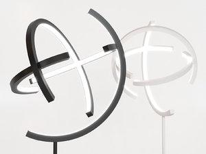 atom straight floor lamp 3D model