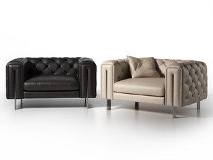 3D vincent armchair model