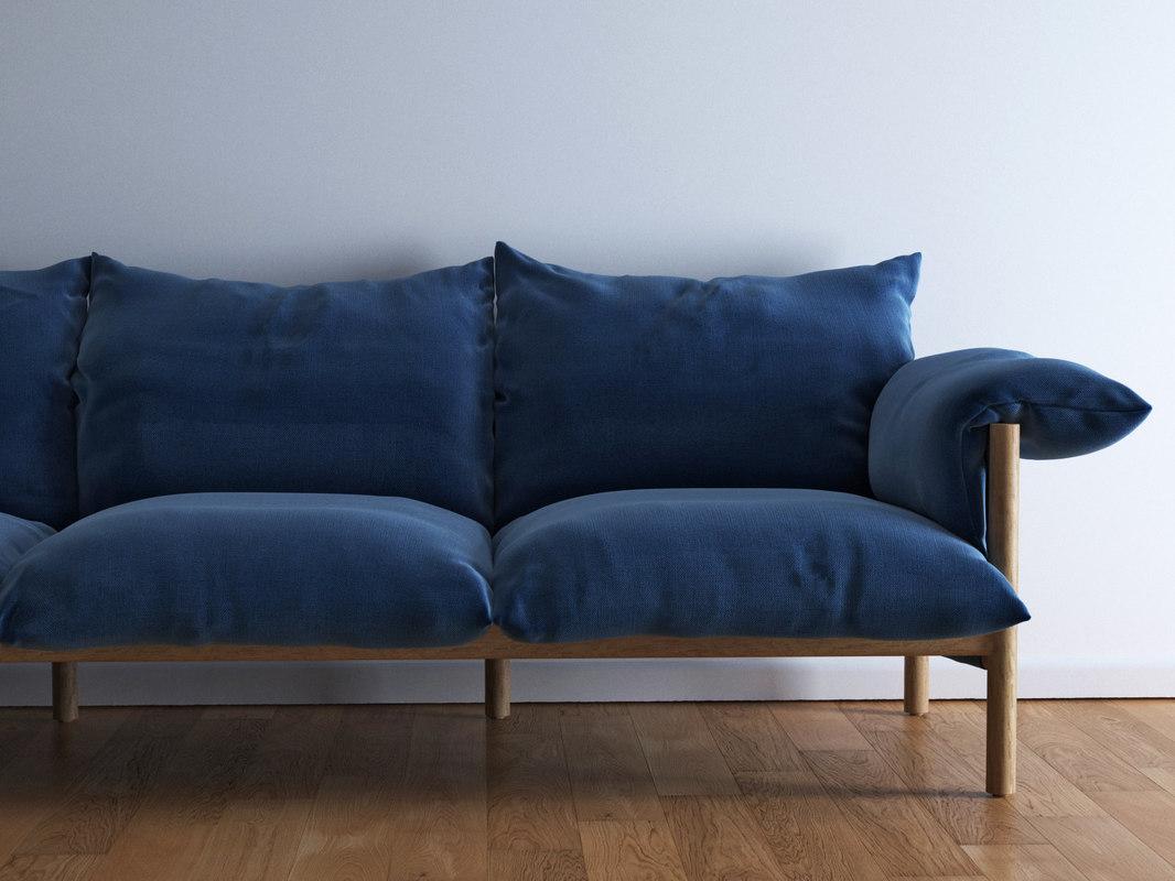 wilfred sofa 264 3D model