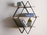 3D diamond cross planes shelf