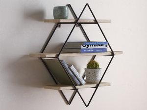 3D diamond cross planes shelf