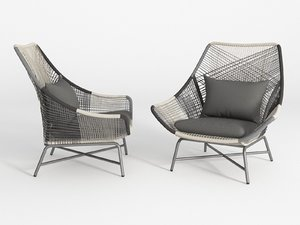 huron lounge chair 3D model