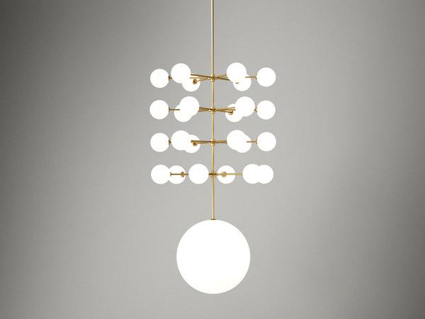 3D epic 3 pendant lamp model