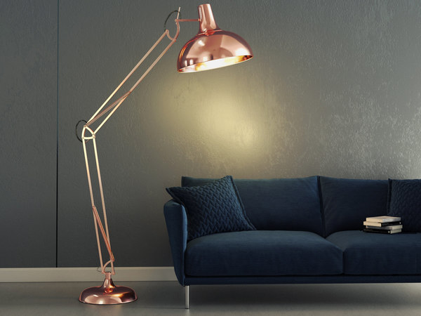 3D atlas floor lamp model