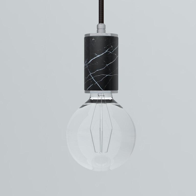 pendant lamp marmor glans 3D model