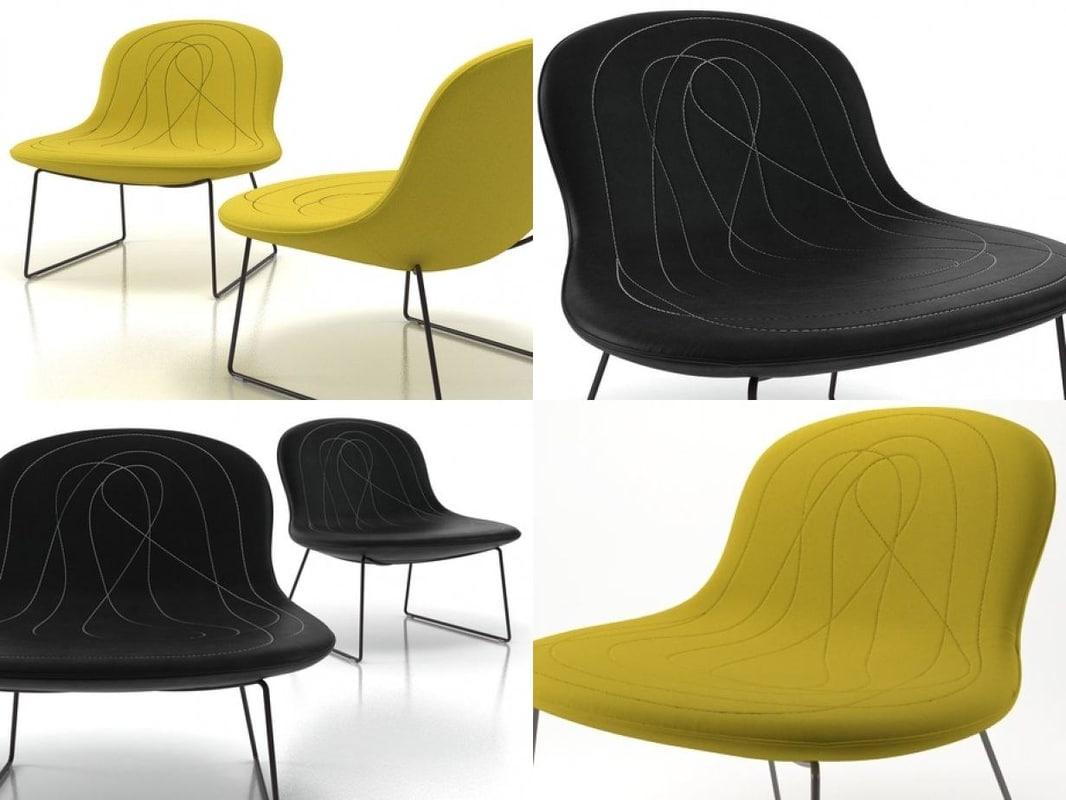 3D easy chair