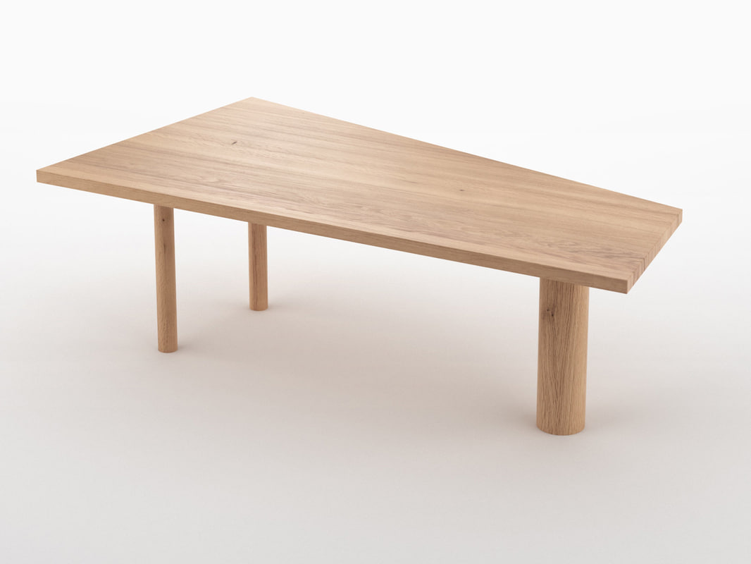 trapez table 3D model