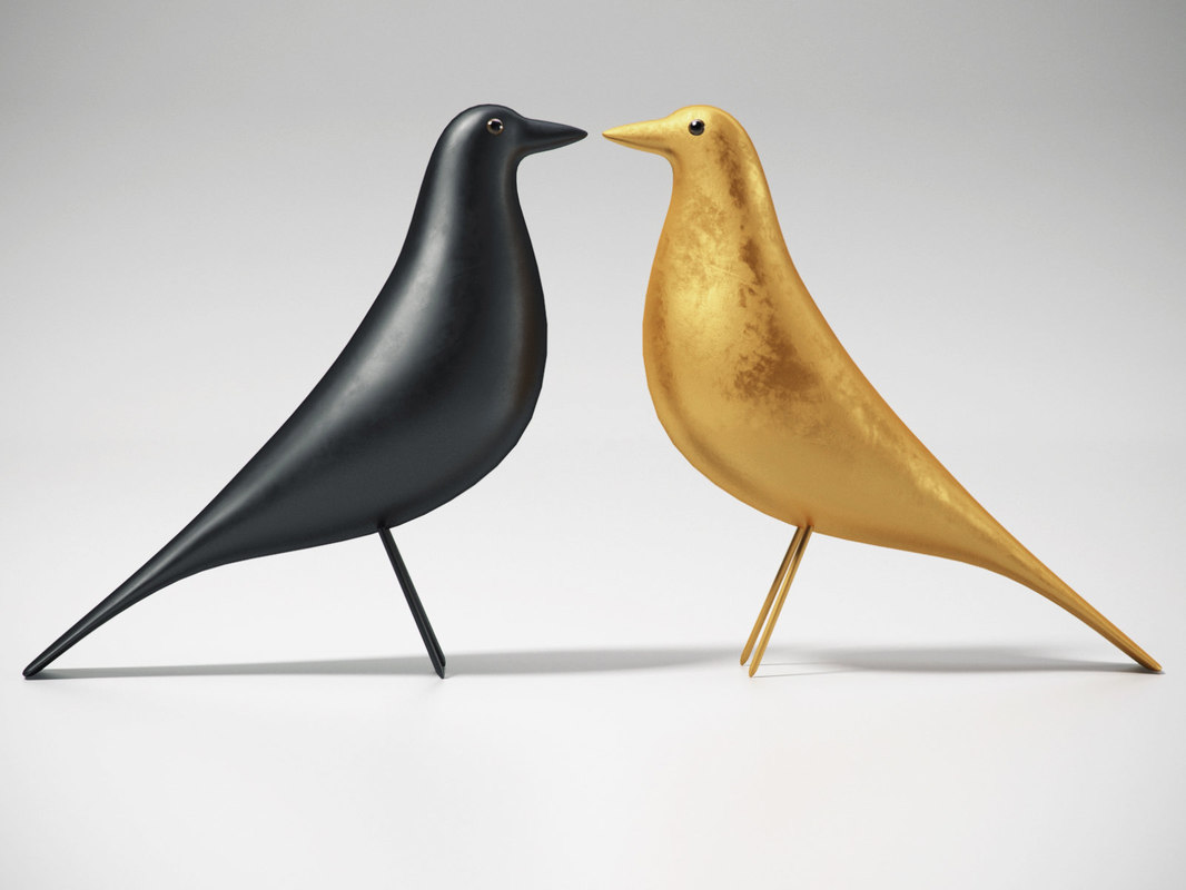 3D eames house bird