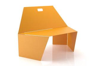 bent armchair 3D