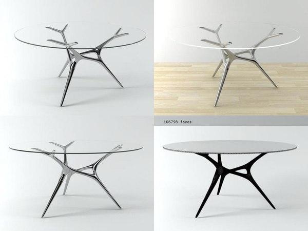 3D e-volved table model