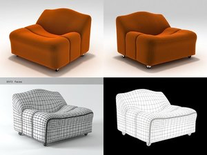 3D abcd lounge chair model