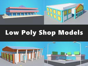 3D store shop modelled 4
