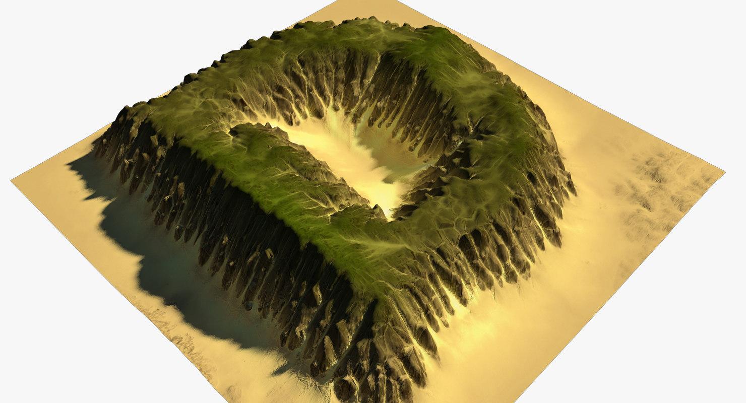 3D alphabet terrain d
