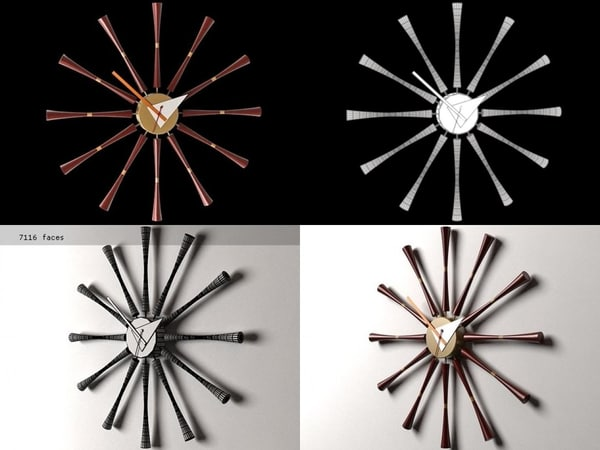 spindle clock 3D model
