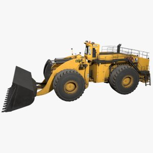 wheel loader letourneau l-2350 3D