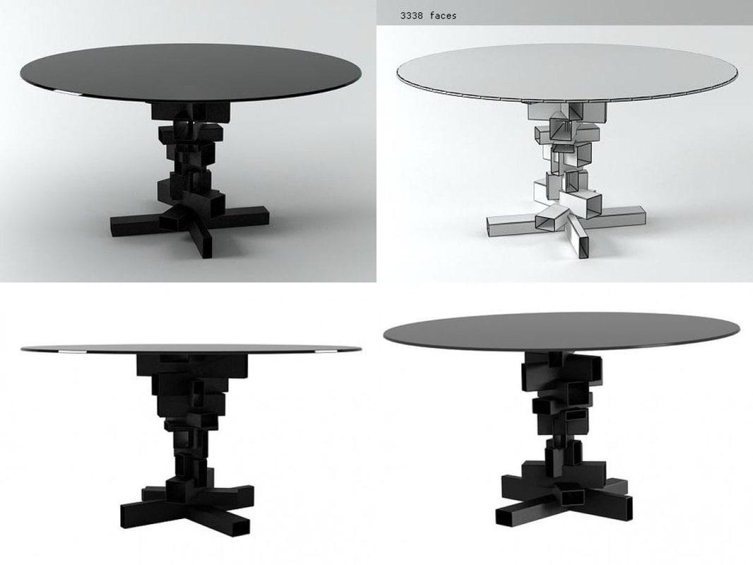 3D dining table n model