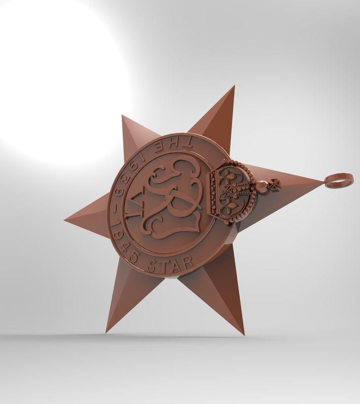 3D british medal