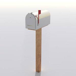 3D classic mailbox