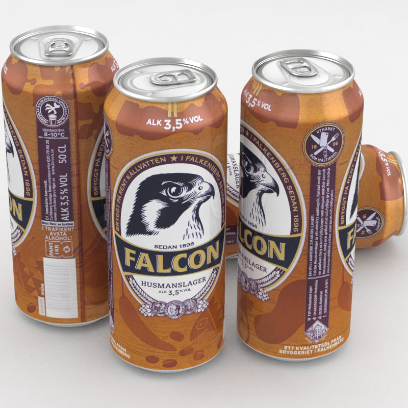 3D model beer lager falcon