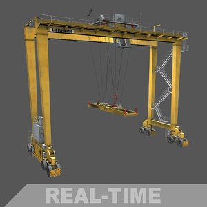 3D real time gantry crane