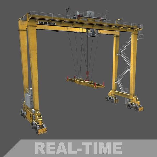 3D real time gantry crane