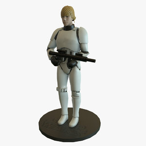 luke skywalker figure 3D