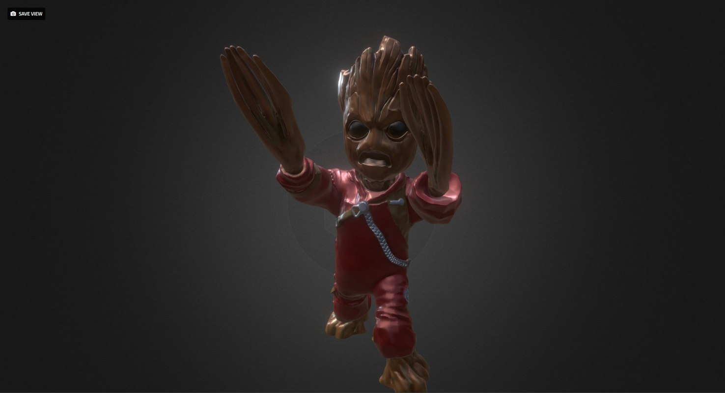3D baby groot ravager clothes