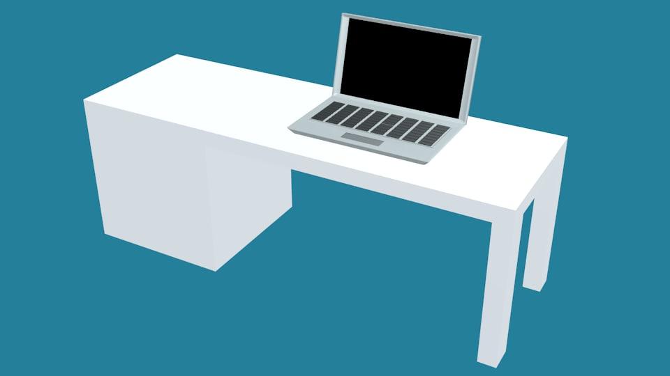 laptop desk 3D model