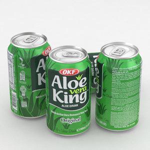 beverage aloe vera 3D model