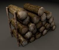 pile firewood 3D