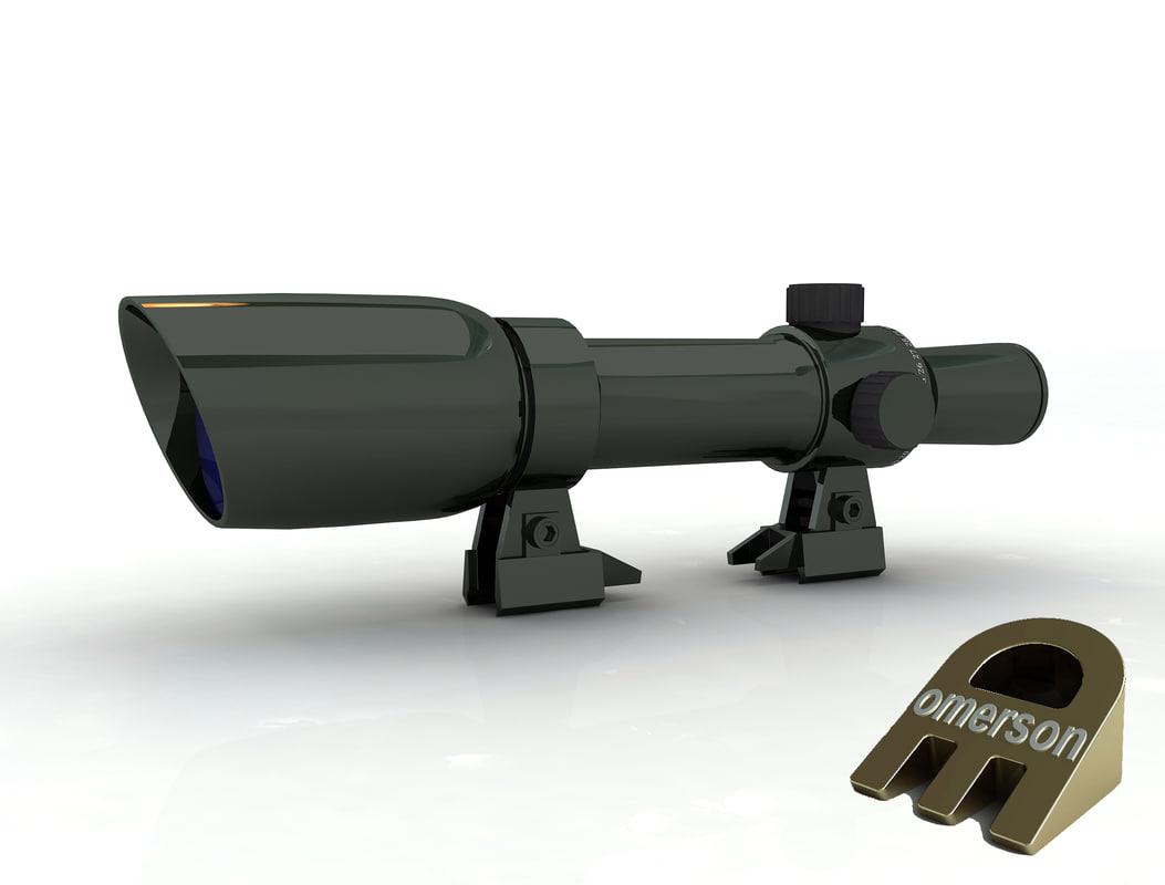 sniper rifle scope 3D model