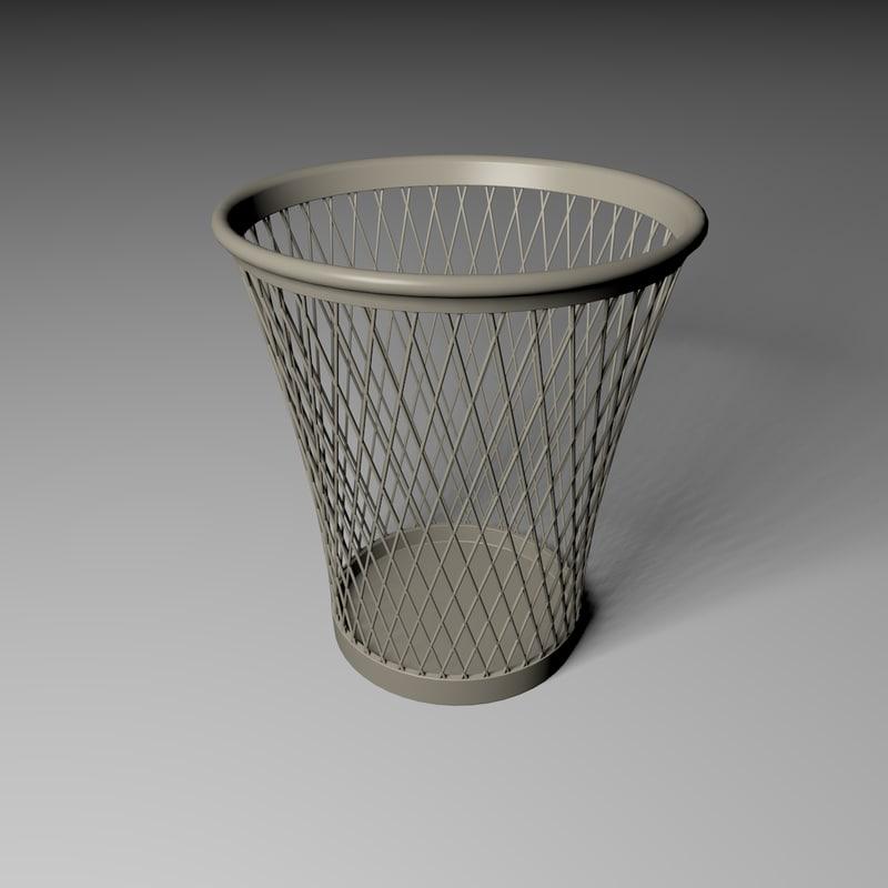 Office Waste Basket 3D