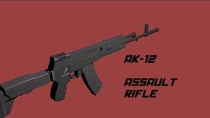 ak-12 rifle 3D