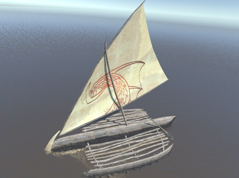 3D model boat sailboats sail