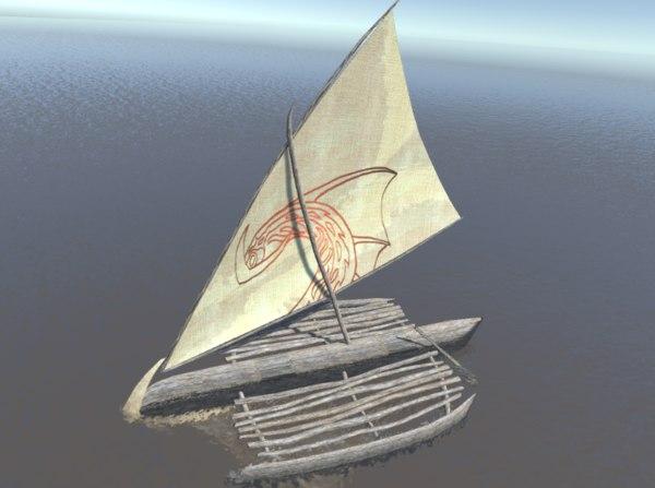3D model boat sailboats sail