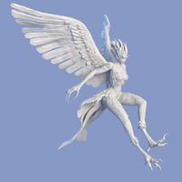 syrenox sculpture 3D model