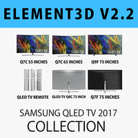 E3D - SAMSUNG QLED TV 2017 COLLECTION 3D model