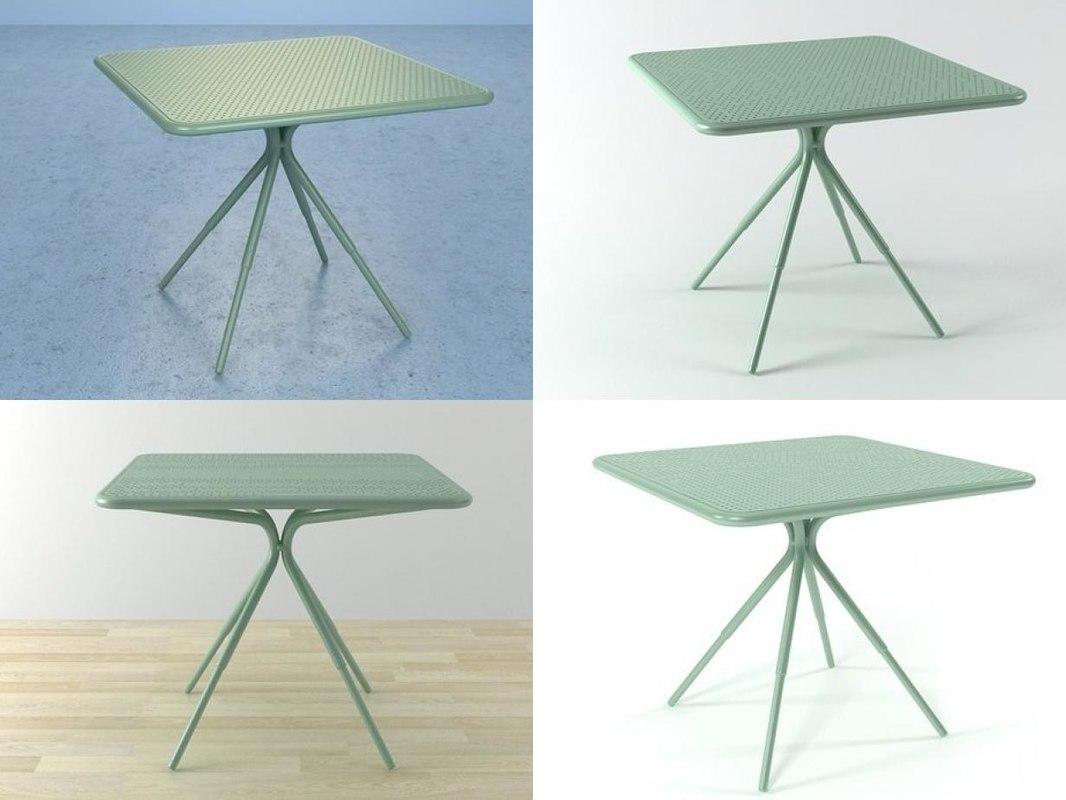 grasshopper square table 3D