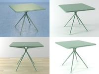 grasshopper square table 3D
