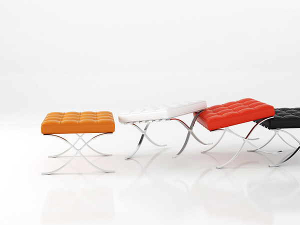 3D model stool knoll