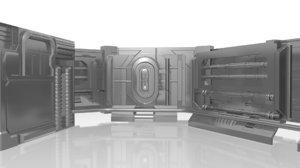 3D sci fi wall model