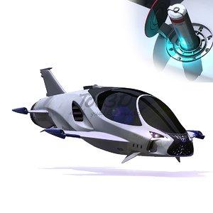 skyjet concept ship 3D