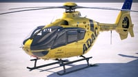3D model adac eurocopter ec135